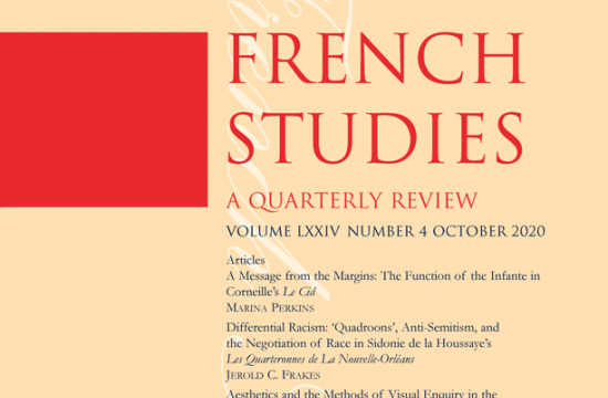 cover image of French Studies